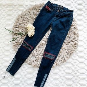 Levi's 535 Leggings Jeans with Distressed Knees